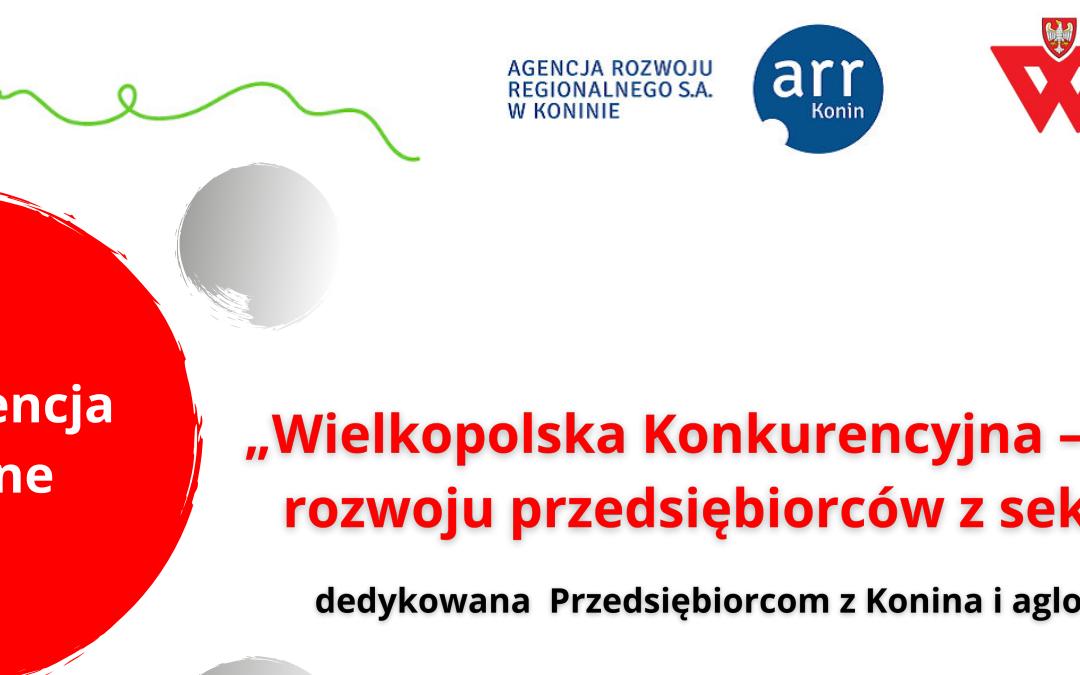 """Webinarium """"Wielkopolska Konkurencyjna – możliwości rozwoju przedsiębiorców z sektora MŚP"""""""