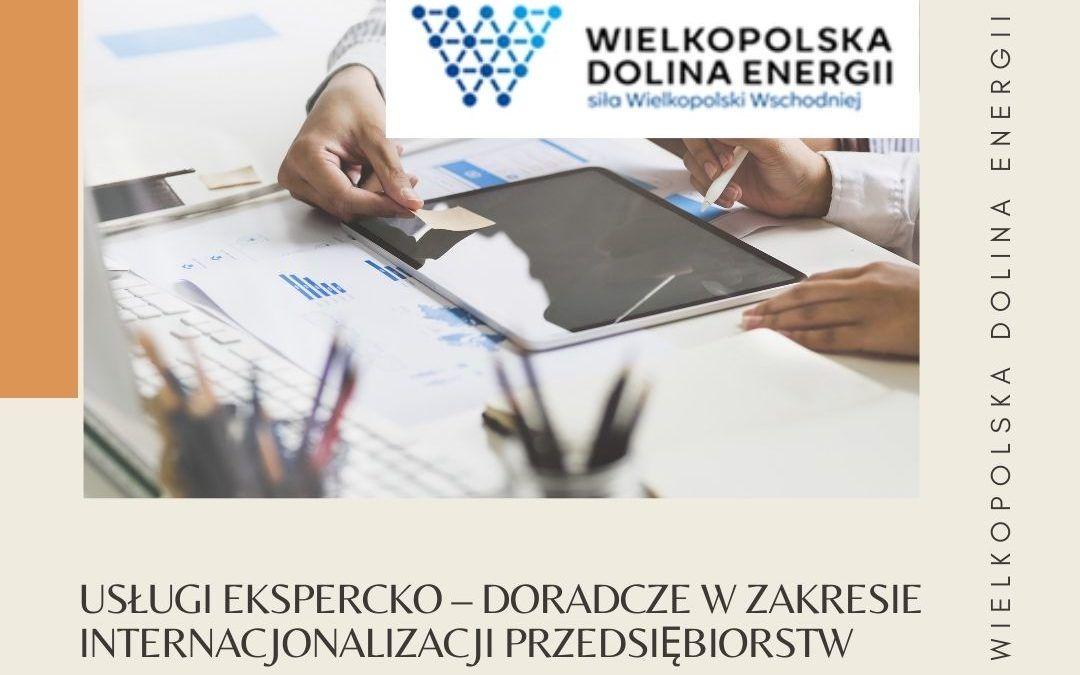 Zapraszamy do udziału w usługach ekspercko – doradczych w zakresie internacjonalizacji przedsiębiorstw